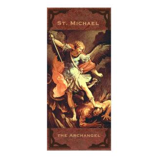 """""""St Michael o cartão da oração do arcanjo """" 10.16 X 22.86cm Panfleto"""