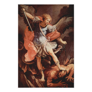 St Michael o poster do arcanjo