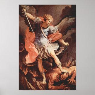 St Michael o poster do arcanjo Pôster