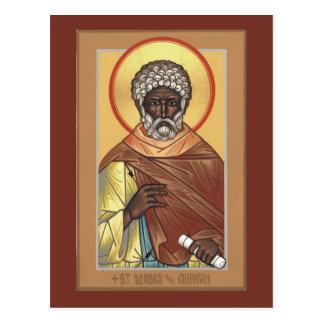 St. Moses o cartão etíope da oração