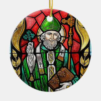 St Patrick, imagem do vitral, ornamento irlandês
