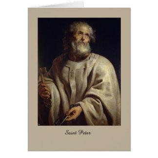 St Peter por Peter Paul Rubens, cartão