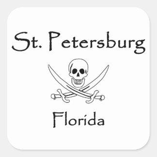 St Petersburg Florida Roger alegre Adesivo Quadrado