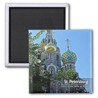St Petersburg, igreja do salvador no sangue Ímã Quadrado