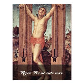 St. Quintinus por Pontormo Jacopo (a melhor qualid Panfletos Personalizados