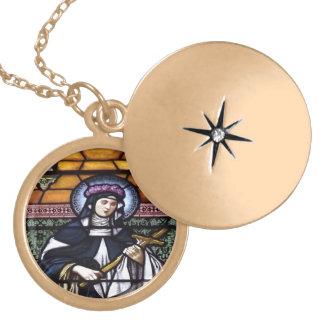 St. Rosa da colar do vitral de Lima