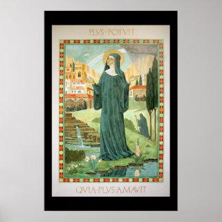 St. Scholastica e Benedict Poster