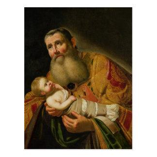St. Simeon que apresenta o cristo infantil Cartão Postal