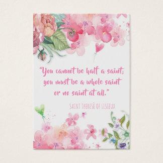 St. Therese do cartão santamente dos rosas das
