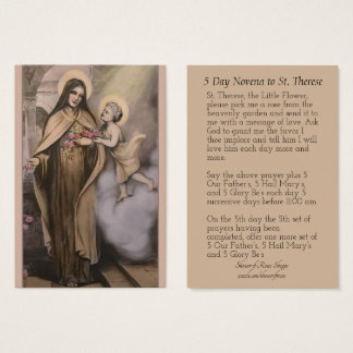 St. Therese do vintage os cartões pequenos do
