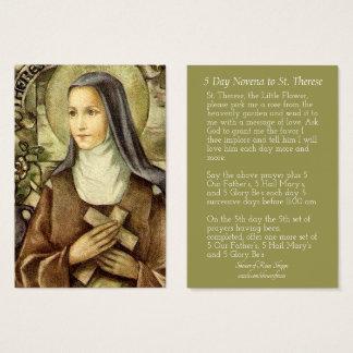 St. Therese os cartões pequenos do Novena da flor