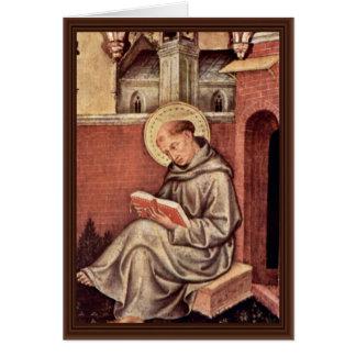 St Thomas Aquinas por Gentile da Fabriano Cartao