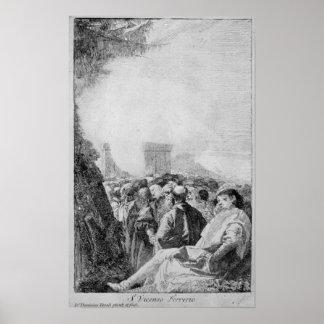 St. Vincent Ferrer, 1750-80 Pôster