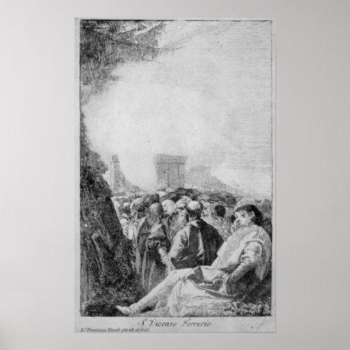 St. Vincent Ferrer, 1750-80 Pôsteres