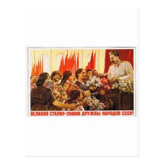 stalin.leader de URSS Cartão Postal