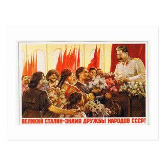 stalin.leader de URSS Cartões Postais