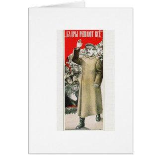 stalin o líder URSS Cartão Comemorativo