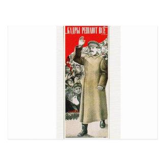 stalin o líder URSS Cartao Postal