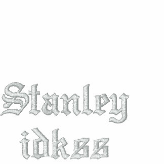 Stanley idkss agasalho track de lã bordado