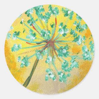 starburst adesivo redondo