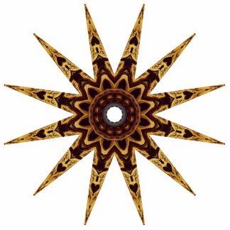 Starburst dourado fotoesculturas