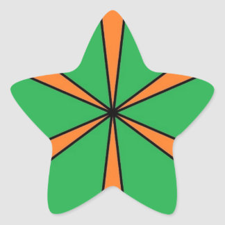 starbursts alaranjados adesivo estrela
