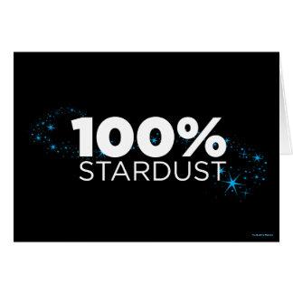 Stardust 100% cartão comemorativo