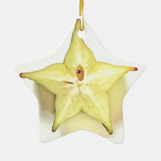Starfruit Dble-Tomou partido ornamento da estrela