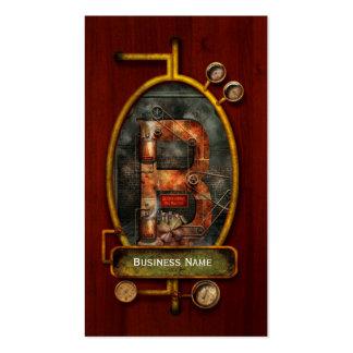 Steampunk - alfabeto - B é para correias Modelos Cartoes De Visitas