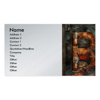 Steampunk - alfabeto - B é para correias Cartões De Visita
