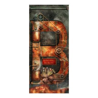 Steampunk - alfabeto - B é para correias Planfeto Informativo Colorido