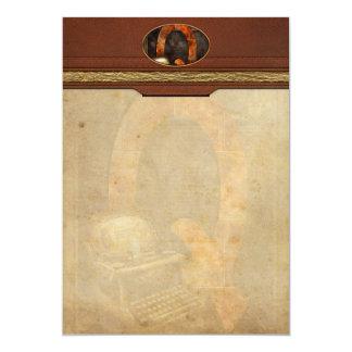 Steampunk - alfabeto - Q é para QWERTY Convites Personalizado
