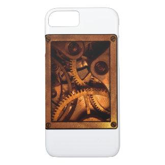 Steampunk alinha a capa de telefone do maquinismo