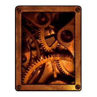 Steampunk alinha cartão do maquinismo de