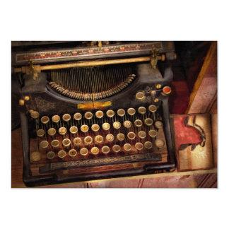 Steampunk - apenas uma máquina de escrever convite 12.7 x 17.78cm