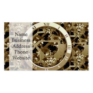 Steampunk cronometra presentes mecânicos das cartão de visita