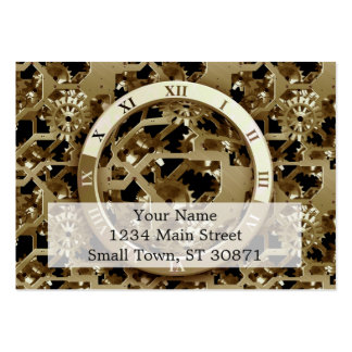 Steampunk cronometra presentes mecânicos das cartão de visita grande