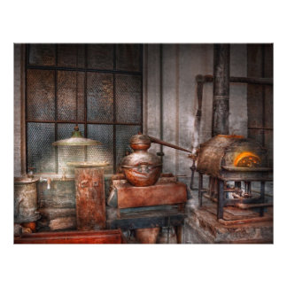 Steampunk - destilaria privada panfleto coloridos