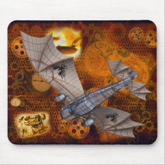 Steampunk dramático Mousepad nos ouro & nos