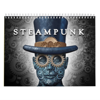 Steampunk e calendário do punk do vapor