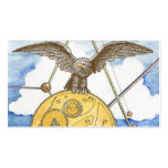Steampunk Eagle e cartão de visita da engrenagem