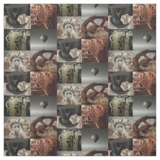 Steampunk imprimiu o tecido de algodão