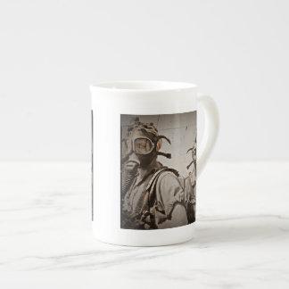 Steampunk inspirou máscaras de gás bone china mug
