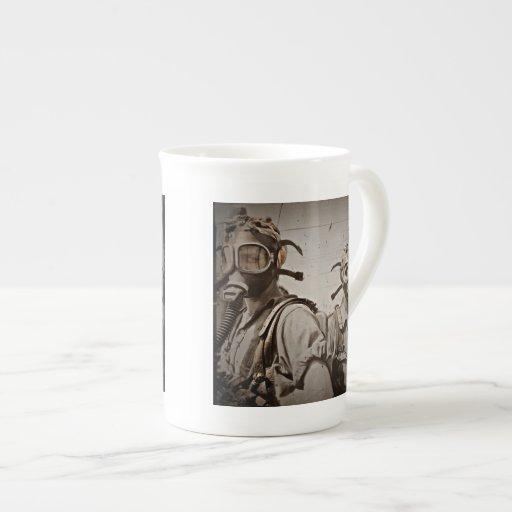 Steampunk inspirou máscaras de gás canecas de porcelana