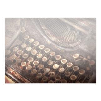 Steampunk - máquina de escrever - tuckered demasia convite personalizados