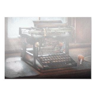 Steampunk - máquina de escrever - uma máquina de convite