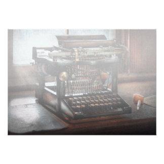 Steampunk - máquina de escrever - uma máquina de e convites personalizado