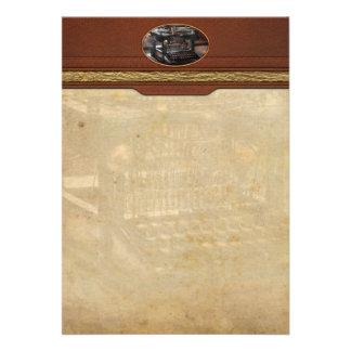Steampunk - máquina de escrever - uma máquina de e convites