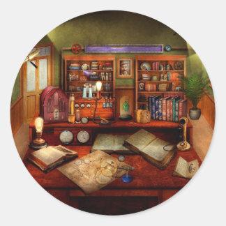Steampunk - meu estudo ocupado adesivo