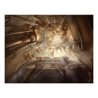 Steampunk - naval - o portal de escape panfleto coloridos